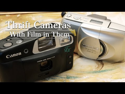 Canon Snappy LX & Olympus Stylus Epic Zoom 170 With Film In Them!