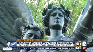 Baltimore mayor exploring removal of Confederate statues