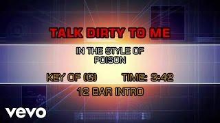 Poison - Talk Dirty To Me (Karaoke)