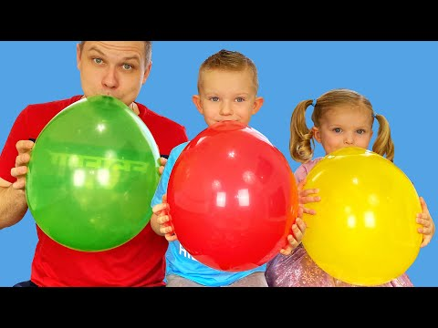 Preschool Toddler Learning Colors with Balloons