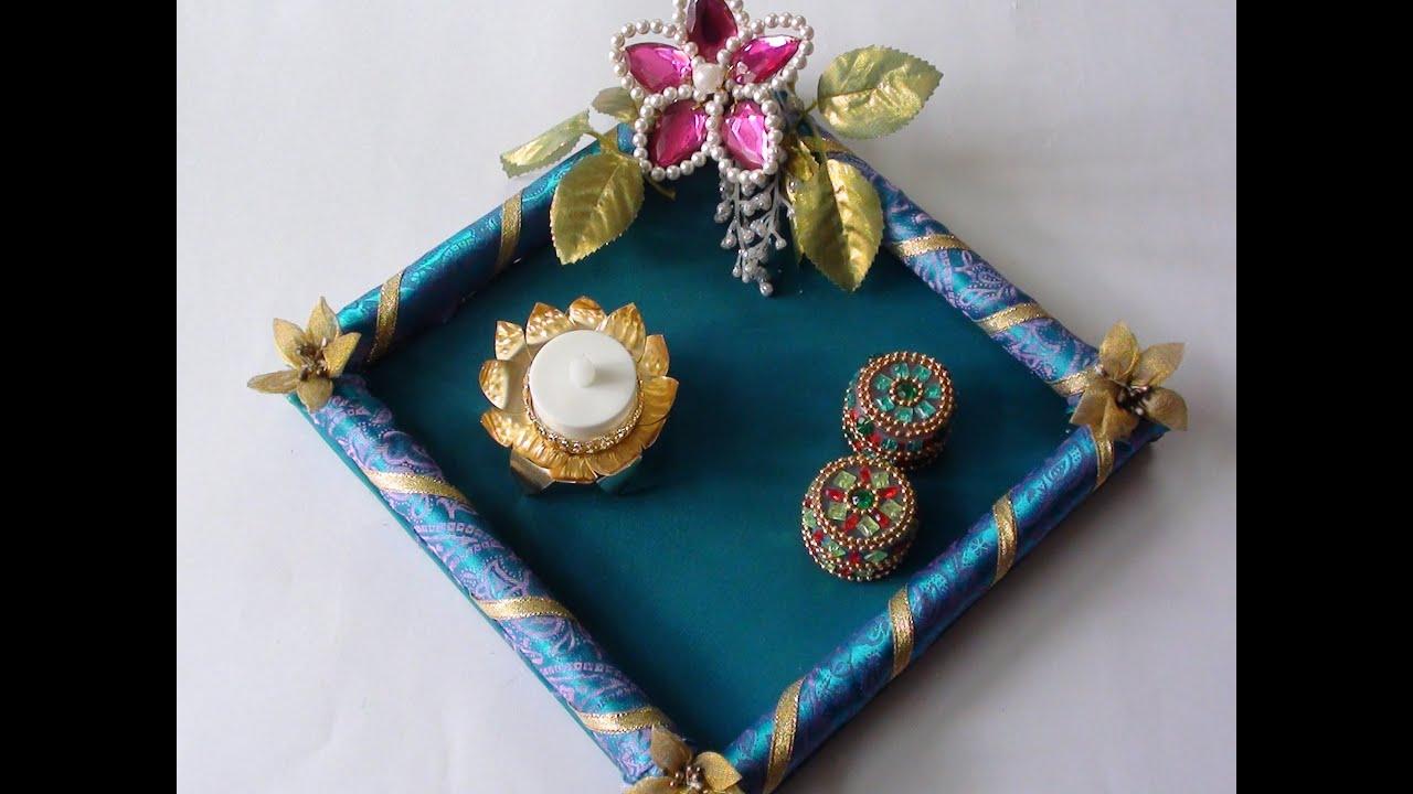 Diy Mehndi Plates : Diy simple rakhi platter youtube
