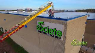 Societe Indoor Cycling Sign Install