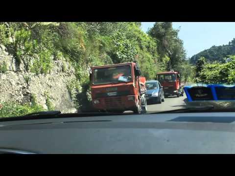 Amalfi Coast, Italy, driving chaos!
