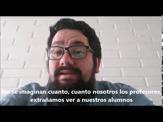 Saludo de Profesor Cristóbal Cristi - Pumahue Chicureo