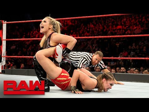 Ronda Rousey vs. Natalya - Raw Women's Championship Match: Raw, Dec. 24, 2018