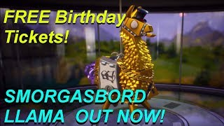 SMORGASBORD LLAMA OUT NOW! | FREE Tickets! | Fortnite Save The World