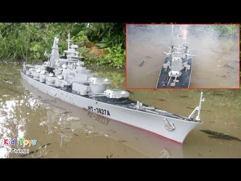 Shoots Rockets RC Battleship HT-3827A Bismarck