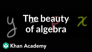 The beauty of algebra | Introduction to algebra | Algebra I | Khan Academy