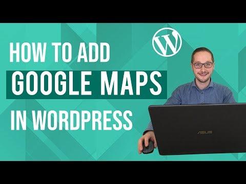 How to add Google Maps to Wordpress Tutorial thumbnail