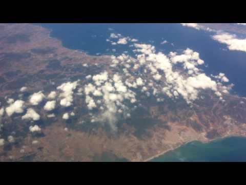 Détroit de Gibraltar vu du ciel RAM Aout 2016