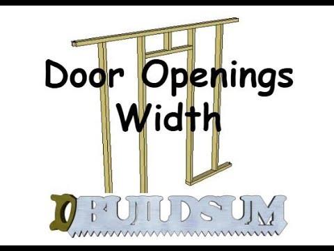 Door Openings - Width
