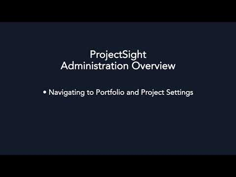 ProjectSight - Administration