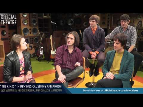 """Sunny Afternoon interview with """"The Kinks"""" George Maguire, Ned Derrington, John Dagleish & Adam Sopp"""