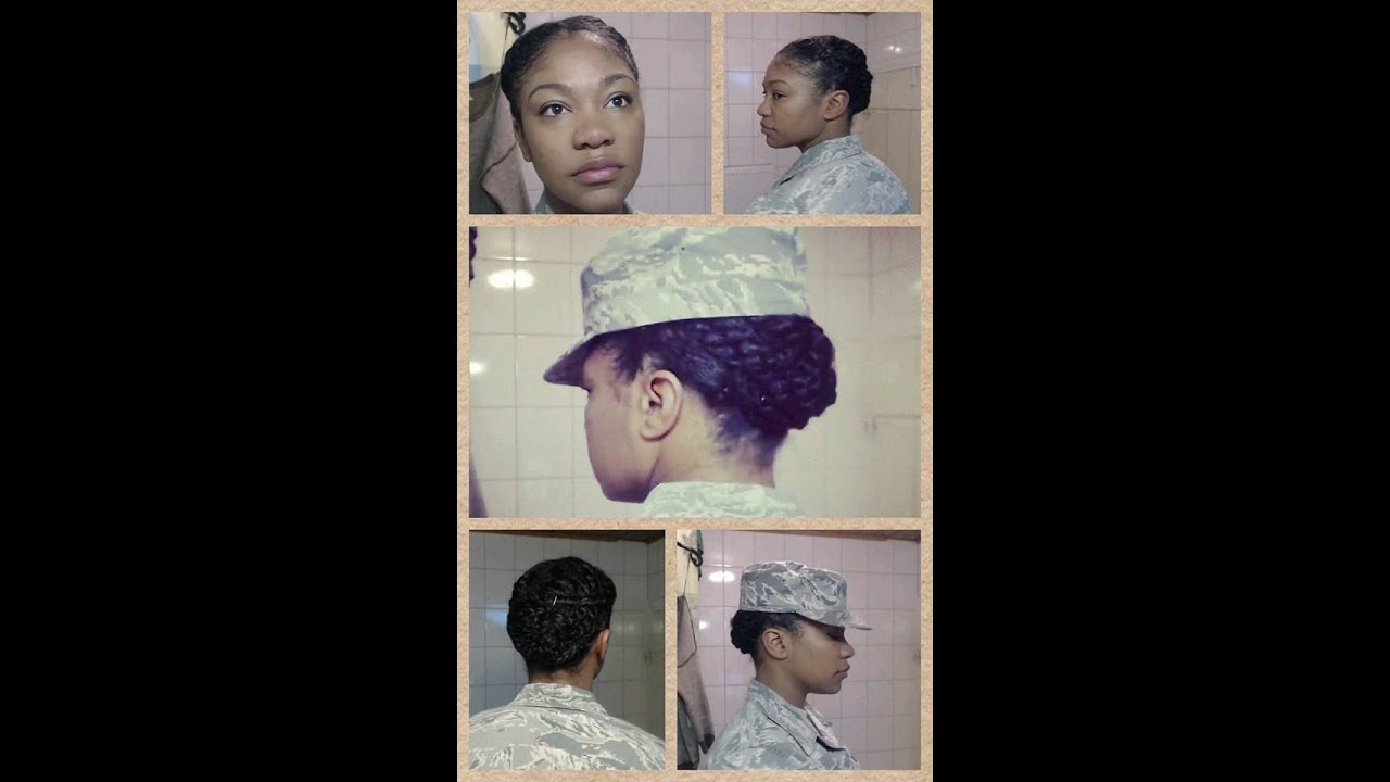 Natural Hair Protective Style Military Edition YouTube