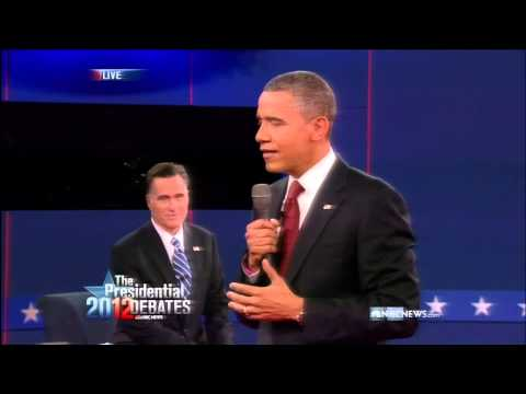 Obama and Romney Debate Each Other's Immigration Policy (2012 Presidential Debate #2)