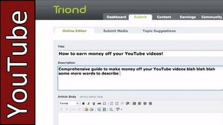 How to make money off your YouTube videos without being a Partner!