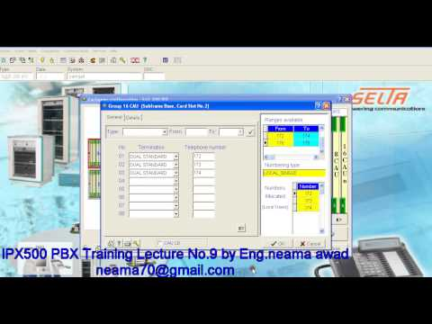 IPX 500 PBX TRAINING LECTURE NO 9 BY ENG NEAMA AWAD