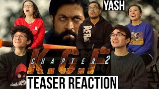 KGF Chapter 2 Teaser REACTION! | YASH | Sanjay Dutt || MaJeliv Reactions | Don't mess with Rocky!