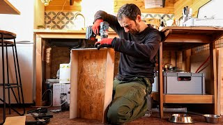 Kuba Builds A Kitchen Drawer / Tiny House In Poland