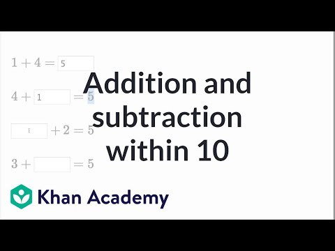 Addition And Subtraction Within 10 | Basic Addition And Subtraction | Early Math | Khan Academy