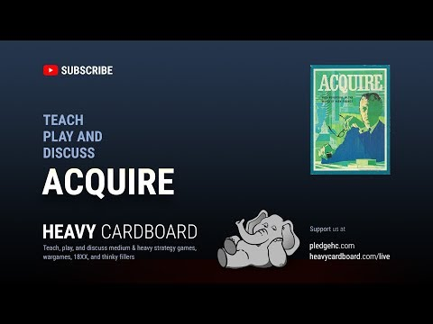 Acquire 4p Teaching, Play-through, & Round table by Heavy Cardboard