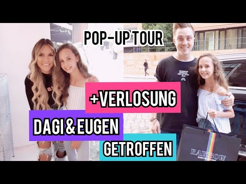 DAGI BEE & EUGEN GETROFFEN - Dagi POP UP TOUR 2018 + coole VERLOSUNG | Nini Flash