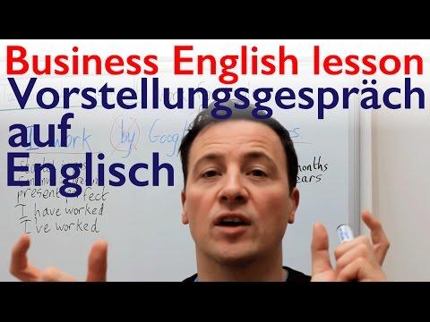 English lesson. Vorstellungsgespräch und über sich selbst zu sprechen auf Englisch