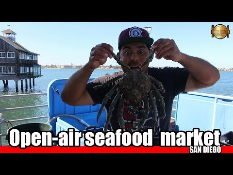 Open-air Seafood Market In San Diego