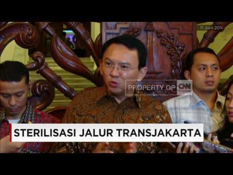 Photo Sterilisasi Jalur TransJakarta, Ahok: Tak Ada Toleransi!