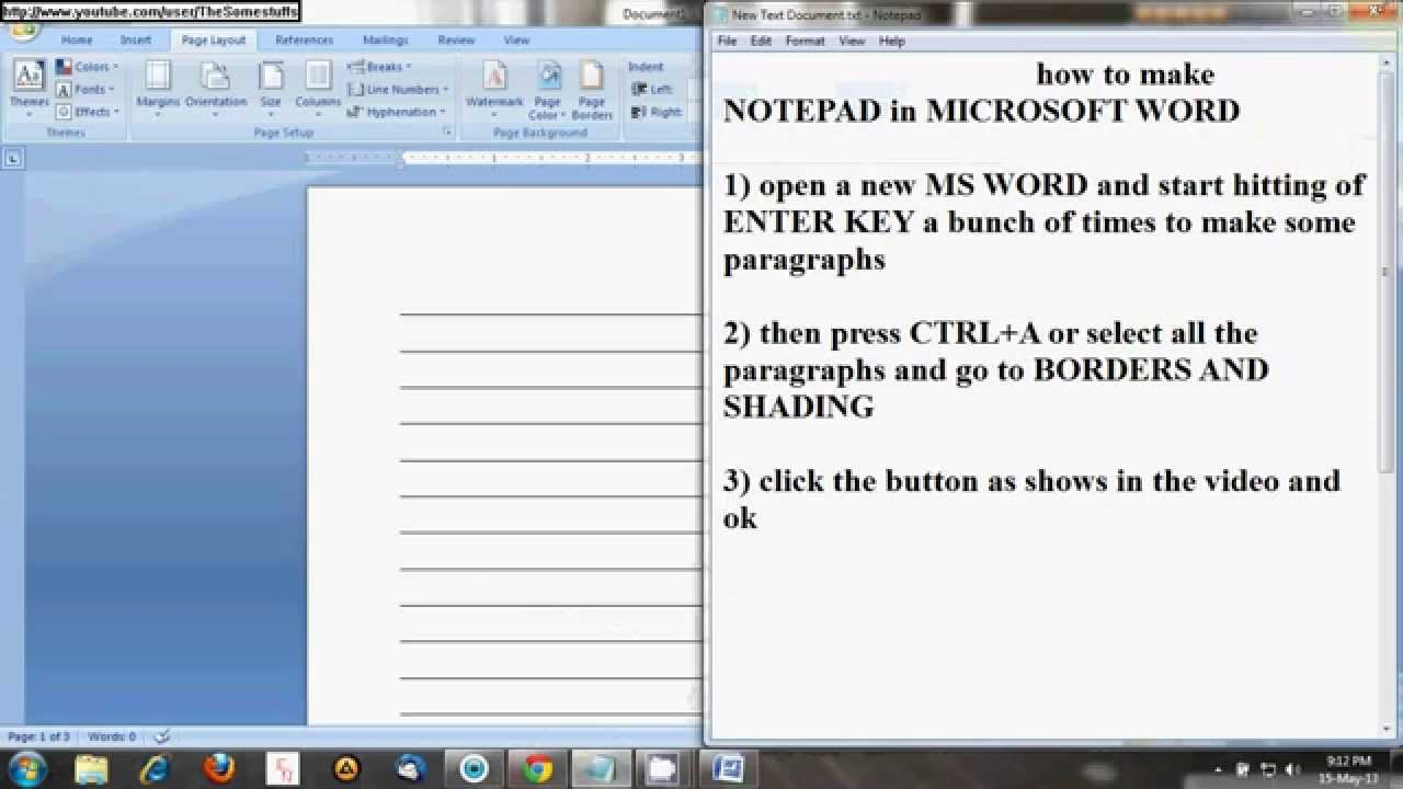 How To Make Notepad In Microsoft Word  Youtube. Vehicle Log Book Excel Template. Tax Invoice Template Excel. Weekly Lesson Plan Format Template. Resignation From Board Of Directors Letter Template. Two Weeks Notice Letter Sample Template. Microsoft Brochure Templates. Free Fillable Acord Forms Online. Ms Office Resume Templates 2007 Template