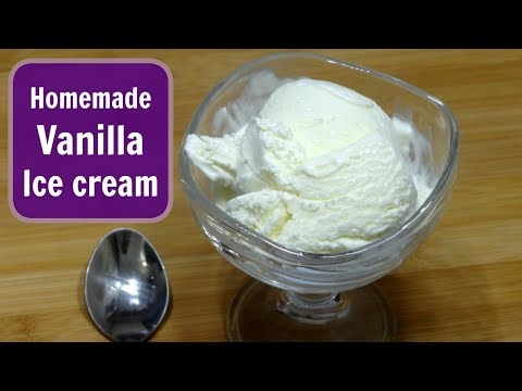 Vanilla Ice Cream | 3 Ingredients Ice Cream | Homemade Egg Less Ice Cream | KabitasKitchen