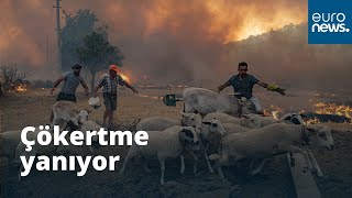 Çökertme yanıyor: Halkın çabaları yetersiz kaldı, alevler evlere sıçradı