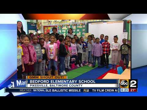 Good morning from students at Bedford Elementary School