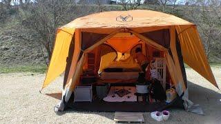 キャンプごっこ最高! 2泊3日で満喫してきました♪ naturehikeのテント ht...