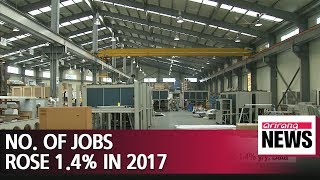 S. Korean economy had 23,160,000 jobs in 2017, up 1.4% y/y: Data