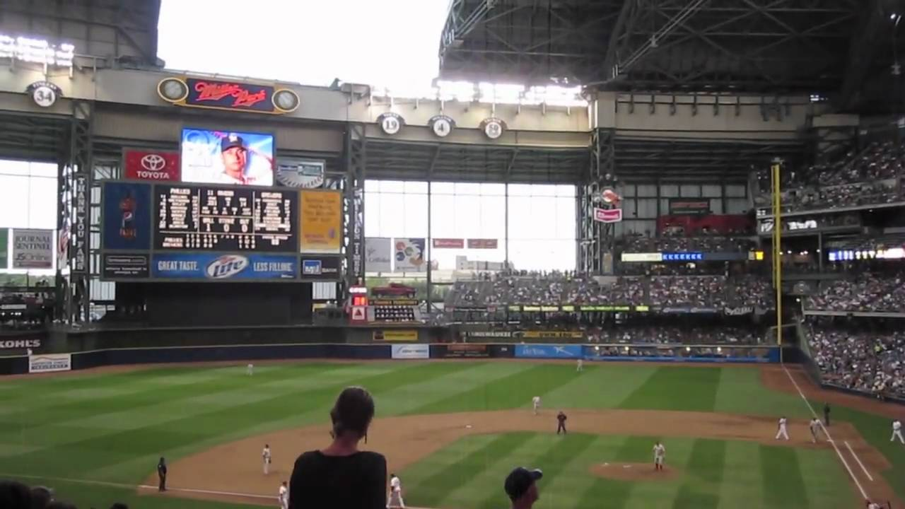 Miller Park Roof Closing 6 27 09 Youtube