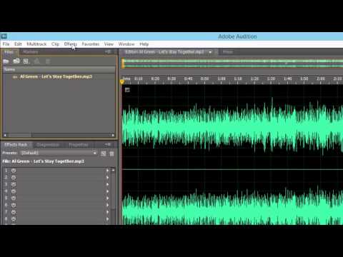 Adjusting Volume with Adobe Audition