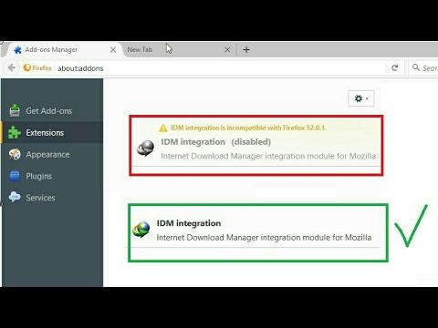 IDM integration est incompatible avec Firefox 53 ,52 ,51,50,49...(RÉSOLU)
