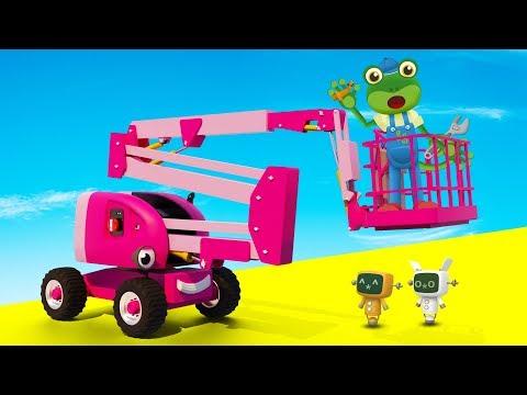 Chelsea The Cherry Picker Visits Gecko's Garage   Trucks For Children