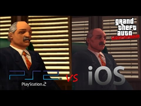 GTA: Liberty City Stories PS2 vs iOS Graphics Comparison