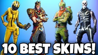 TOP 10 BEST SKINS in Fortnite! The COOLEST of all SKINS! (Fortnite Battle Royale Best Skins)