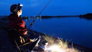 【田舎の釣り暮らし】仕事帰りのぶっこみ釣りで、大物との格闘。