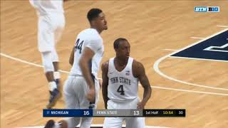 (NCAAM) #17 Michigan Wolverines at Penn State Nittany Lions in 40 Minutes (2/21/18)