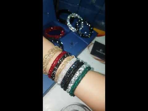 Swarovski Crystaldust Cuff Bracelets Swarovski Bracelets Crystal Dust  golden Crystal