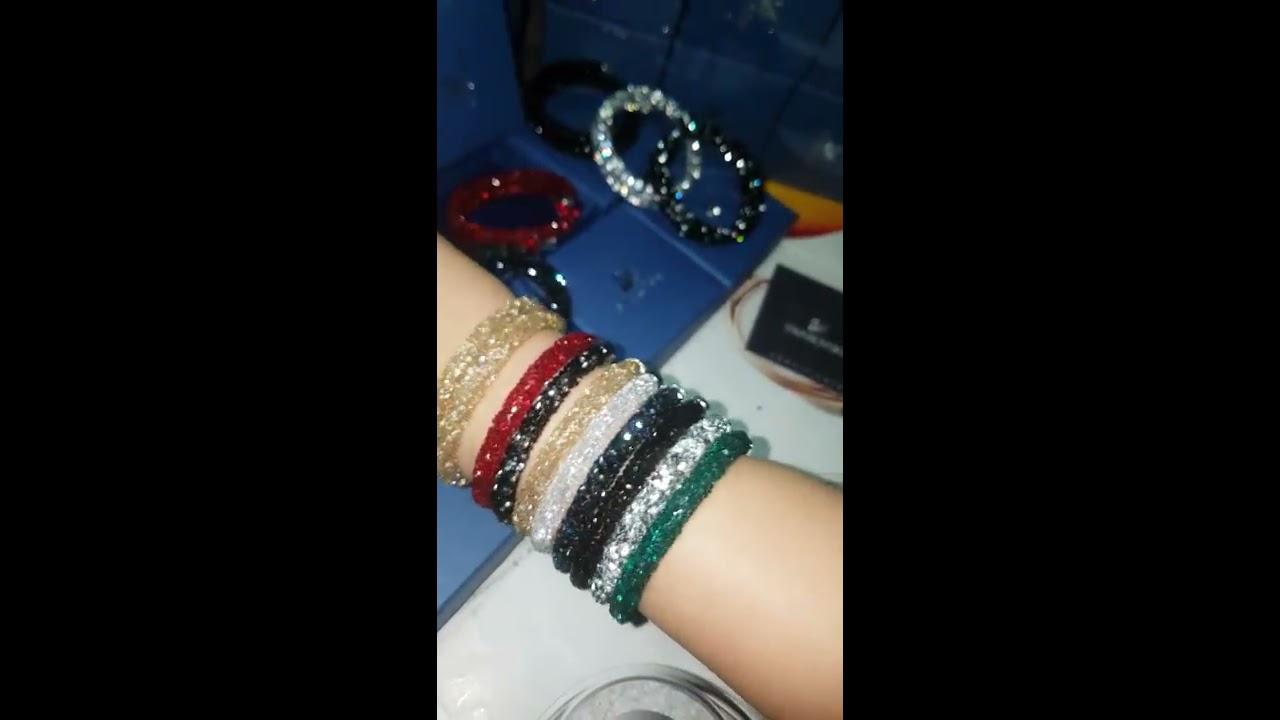 6736be115346 Swarovski Crystaldust Cuff Bracelets Swarovski Bracelets Crystal Dust  golden Crystal