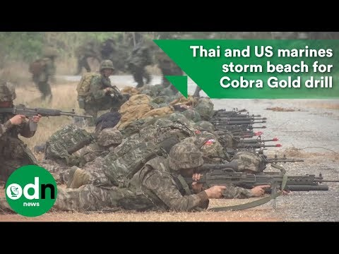 Thai and US marines storm beach for Cobra Gold drill