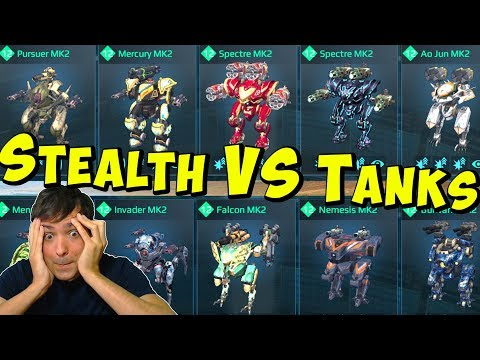 Full Stealth VS Full Tank Hangar - Whats Better? War Robots Mk2 Live WR