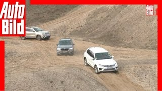 BMW X5 vs. VW Touareg und Jeep Grand Cherokee (2015) Review / Fahrbericht
