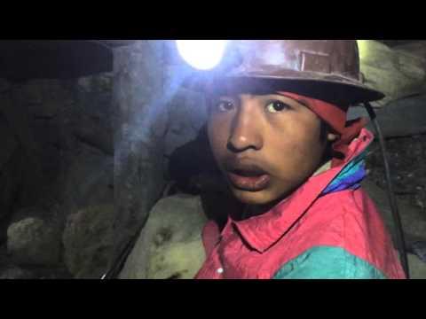 En las minas de Potosí