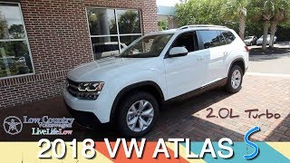 New In Depth Tour of the 2018 VW Atlas S 2.0L Turbo Review & Test Drive